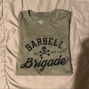 Barbell Brigade Tee in Army Green